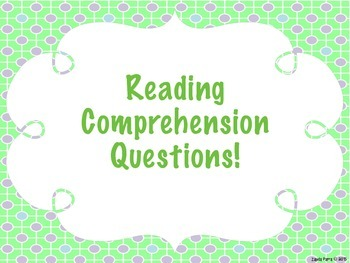 Reading Comprehension Questions - Strips {Purple} FREE!