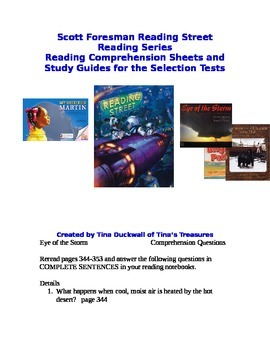 Reading Comprehension Questions and Study Guides