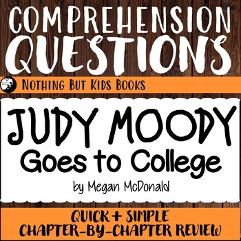 Reading Comprehension Questions for Judy Moody #8