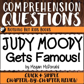 Reading Comprehension Questions for Judy Moody #2