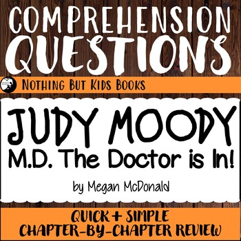 Reading Comprehension Questions for Judy Moody #5