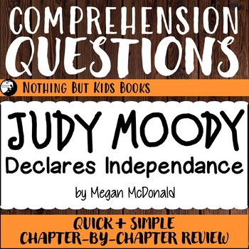 Reading Comprehension Questions for Judy Moody #6