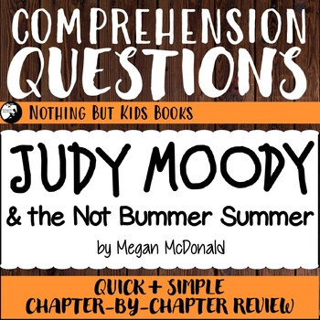 Reading Comprehension Questions for Judy Moody #10