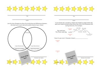 Reading Comprehension, Reflection & Reviewing Worksheets  