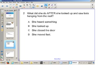 Reading Comprehension Senteo Test, Answer Questions, SOL t