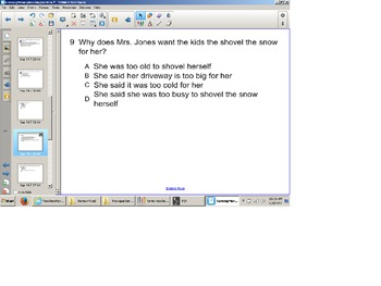 Reading Comprehension Senteo Test, SOL Test Prep , Narrati