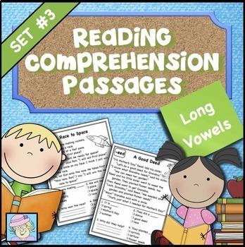Reading Comprehension Set 3: Long Vowels