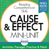 Cause and Effect Passages, Worksheets, & Graphic Organizer