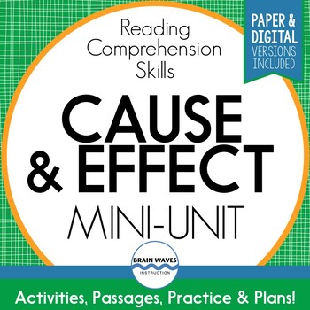 Cause and Effect Mini-Unit:  Reading Comprehension Skills Study