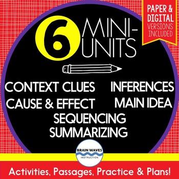 Reading Comprehension Skills - SUPER BUNDLE - 6 Mini-Units