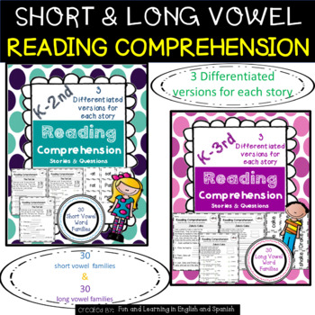 Reading Comprehension Stories & Questions:Short & Long Fam