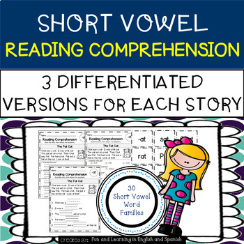 Reading Comprehension Stories & Questions:Short Vowel Fami