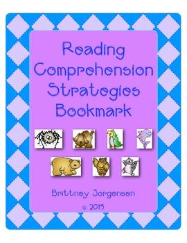 Reading Comprehension Strategies Bookmark