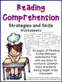 Reading Comprehension Strategies and Skills Worksheets