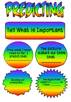 Reading Comprehension Strategy Cards