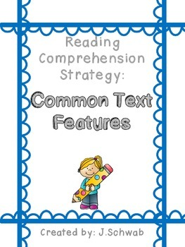 Reading Comprehension Strategy Poster: Common Text Features