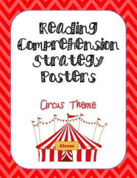 Reading Comprehension Strategy Posters- Circus Animals & C