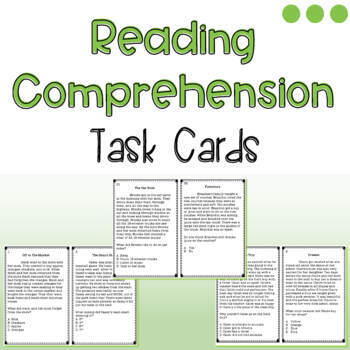 Reading Comprehension Task Cards