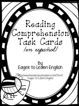 Reading Comprehension Task Cards (B&W Color Me! Edition)-i