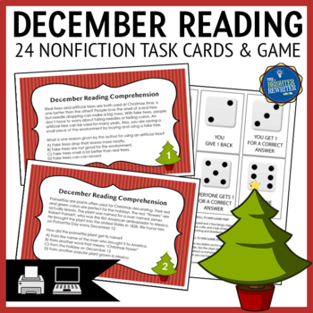 Christmas Reading Task Cards