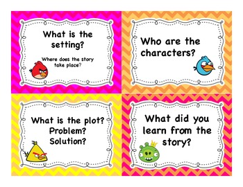 Reading Comprehension Task Cards with Angry Birds