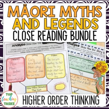 Māori Myths and Legends Reading Texts with Higher Order Thinking