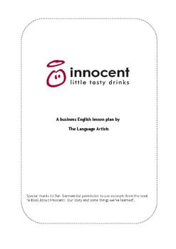 Reading Comprehension & Vocabulary:  Innocent Drinks