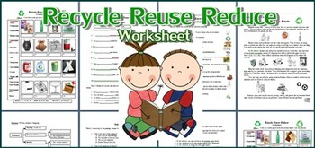 Recycle, Reuse and Reduce Worksheet