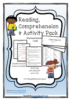 Reading Comprehension and Activity Pack Preview