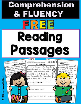 Reading Comprehension Passages FREE