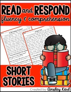 FREEBIE! Reading Comprehension and Fluency Passages- Ficti