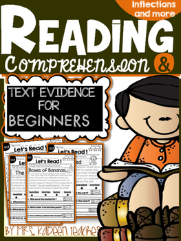Reading Comprehension and Text Evidence with Inflectional
