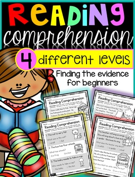 Reading Comprehensions: looking for evidence {4 different levels}
