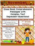 November 7th (V.1) Common Core Close Read with Complex Tex