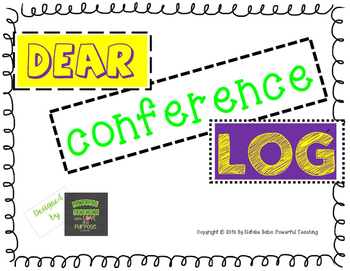 Individual DEAR Reading Conference Log