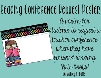 Reading Conference Request Poster