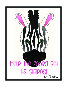 Help the Zebra get its Stripes by Reading