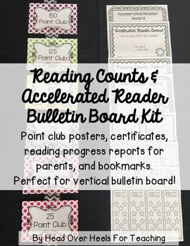 Reading Counts & Accelerated Reader Posters Bulletin Board