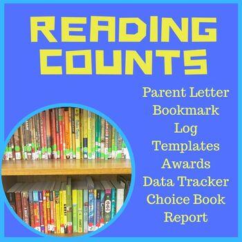 Reading Counts Pack Grade 1-6 Parent Letter, Bookmark, Dat