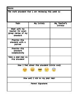 Math Data Checklist with Emojis