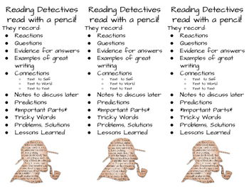 Reading Detective: Close Reading Bookmarks