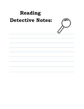 Reading Detective Note Template