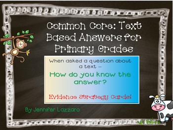 Reading Evidence Based Answers Posters for Primary Grades