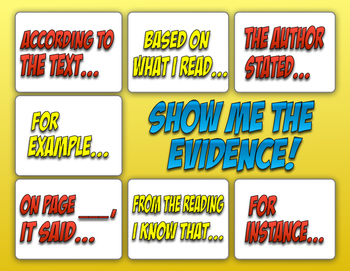 Reading Text Evidence Poster