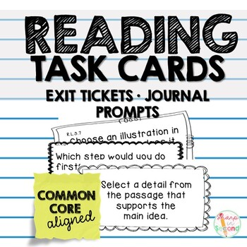 Reading Exit Tickets Common Core Aligned