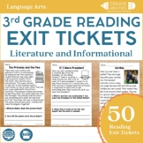 Reading Exit Tickets 3rd Grade