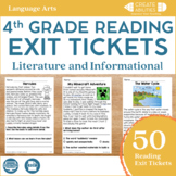 Reading Exit Tickets 4th Grade
