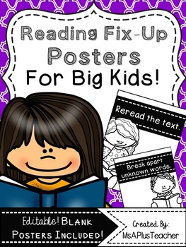 Reading Fix Up Posters for Big Kids!