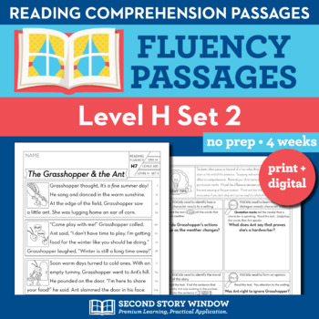 Reading Fluency Homework Level H Set 2