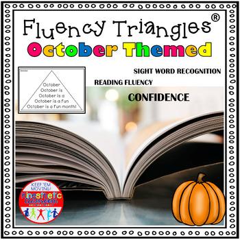 Reading Fluency Activity - October & Halloween Themed Flue